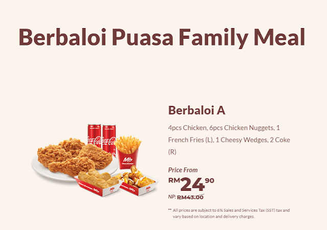 Berbaloi Puasa Family Meals  : Berbaloi A