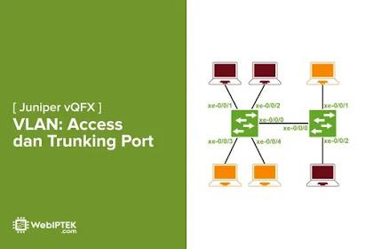 Konfigurasi VLAN di Juniper vQFX: Mode Access dan Trunk Port