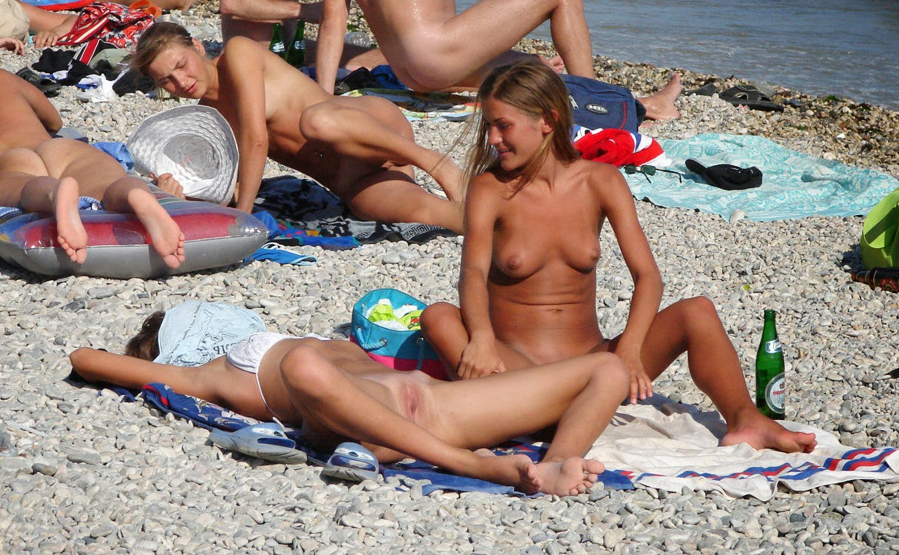 Spread Legs Nude Beach
