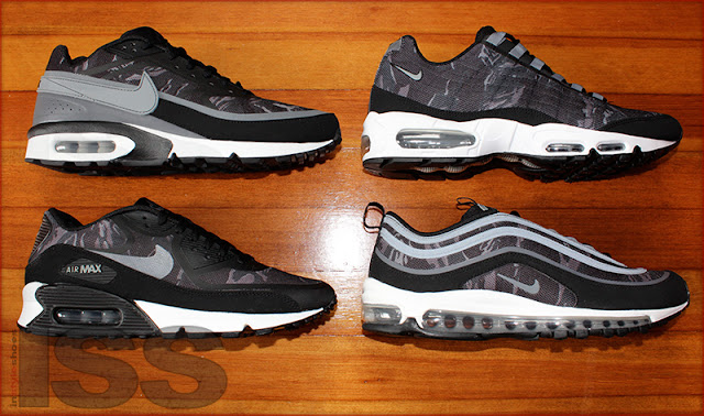 purchase cheap 39c3c 0f626 Nike Air Max Camo Pack - Black   Cool Grey
