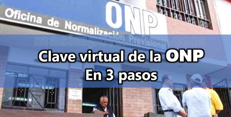 clave virtual de la ONP