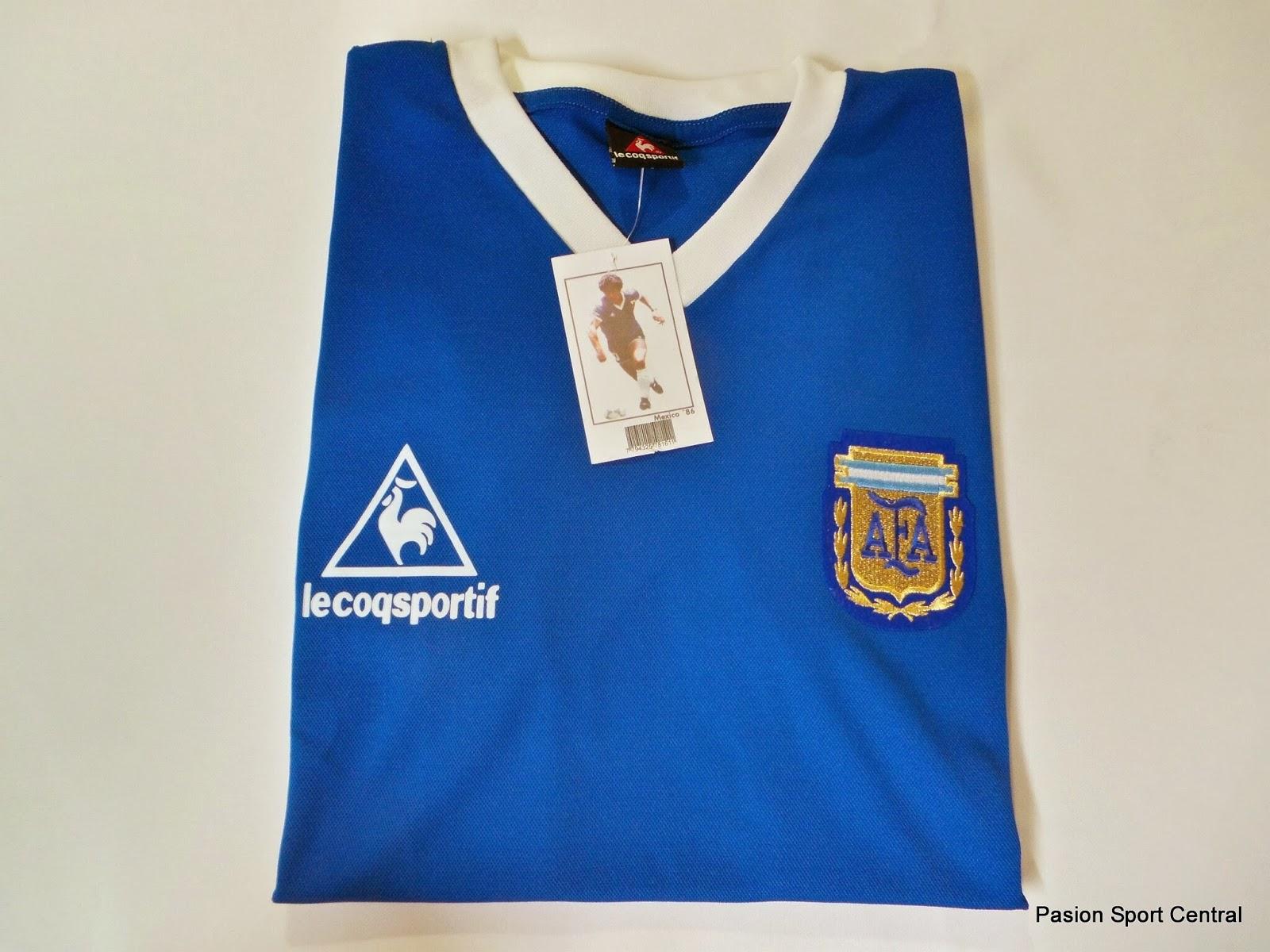 Camiseta Selección Argentina Retro 1986 Suplente  e3a12a85a9e56
