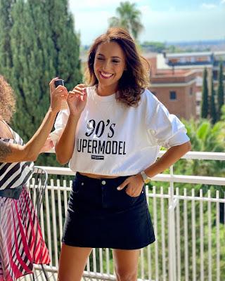 Caterina Balivo t shirt super model gonna