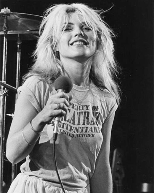 'Property Of Alcatraz Penitentiary Enlisted Number' shirt worn by Blondie Debbie Harry.  PYGOD.COM