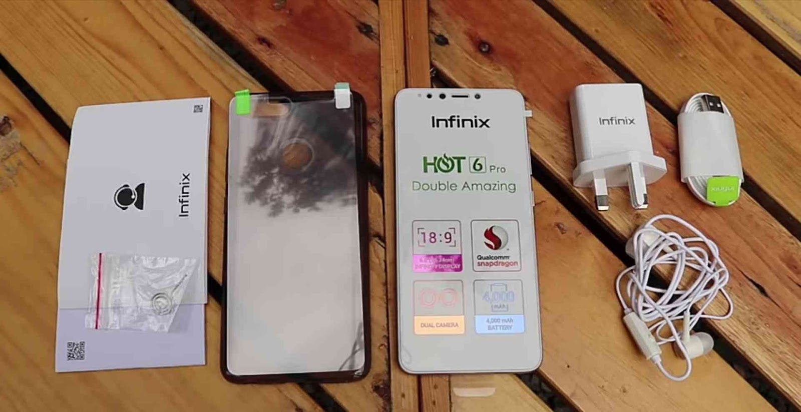 Accessories display of the Infinix Hot 6 Pro