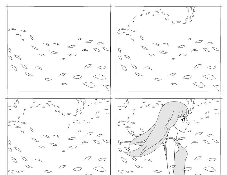 anime menggambar angin selangkah demi selangkah