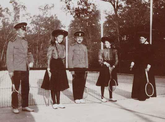 irmãs romanovs com oficiais