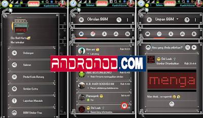 BBM Mod DarkWorm Style Based v3.1.0.13 Apk Terbaru