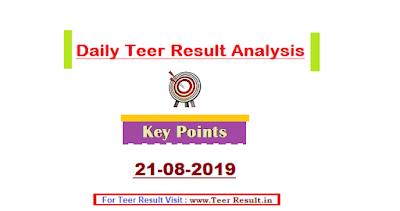 teer results of 21st August 2019 and Analysis