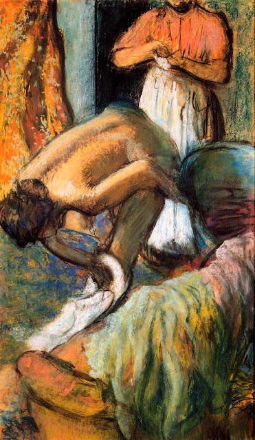 Эдгар Дега - Завтрак после купания (1894) 2