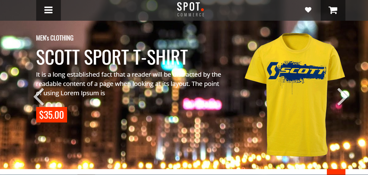 Mẫu blogger SpotCommerce