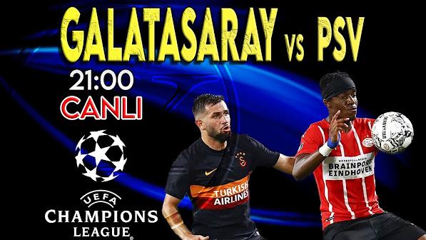 Galatasaray – PSV maçını canlı izle
