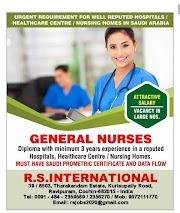 URGENT REQUIREMENT FOR WELL REPUTED HOSPITAL /HEALTHCARE CENTRE /NURDING HOMES IN SAUDI ARABIA