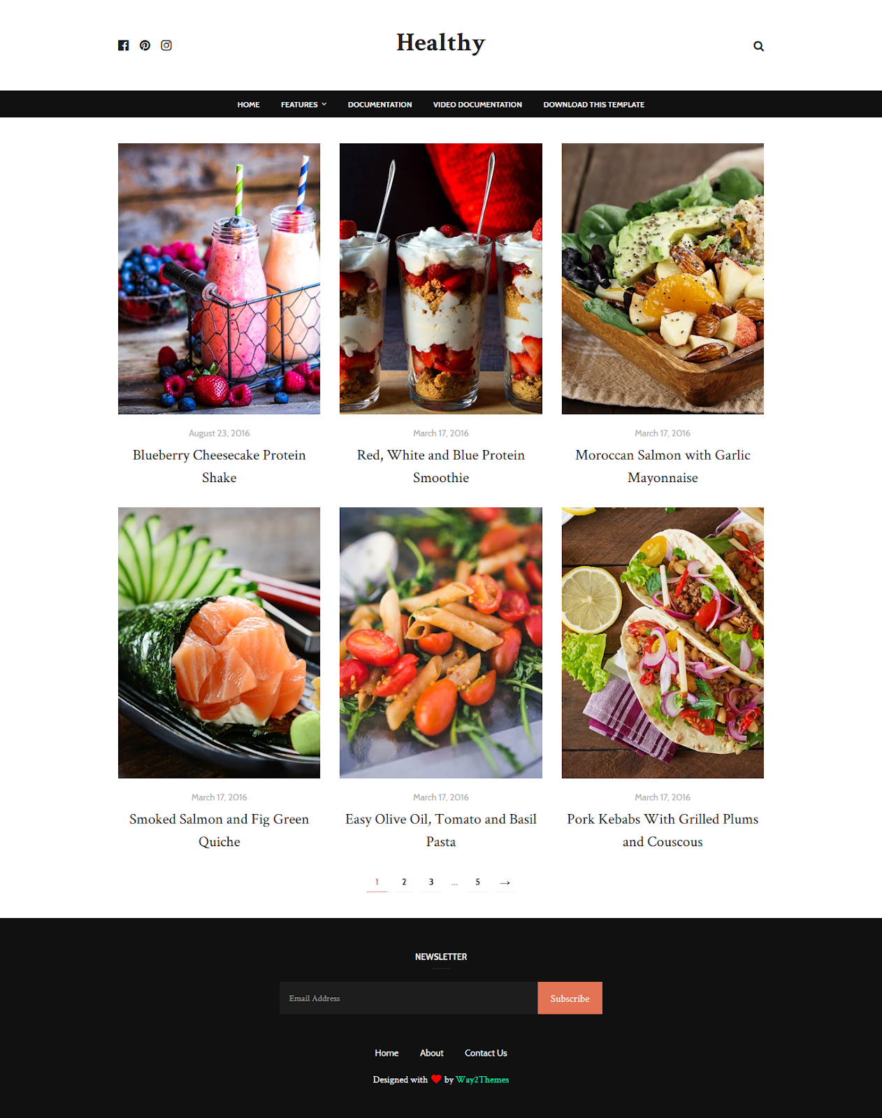 Healthy Blogger Template