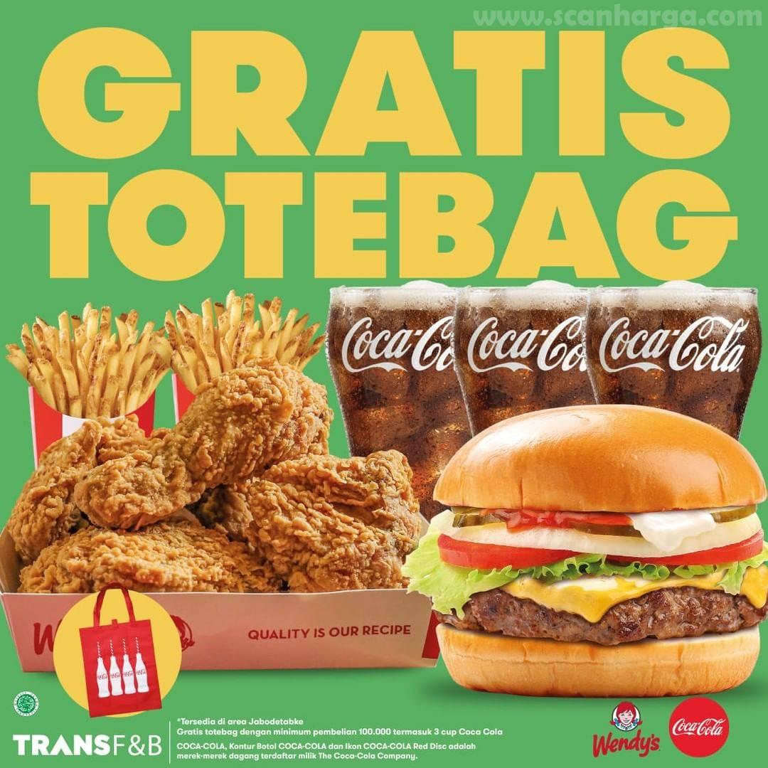 WENDYS Promo GRATIS Tote Bag Coca Cola