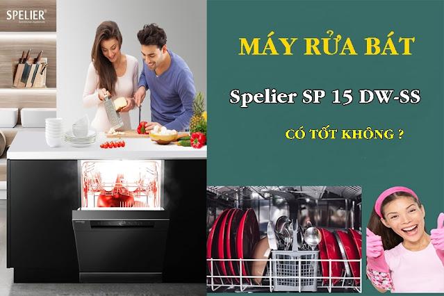 Máy Rửa Chén Spelier SP 15 DW-SS