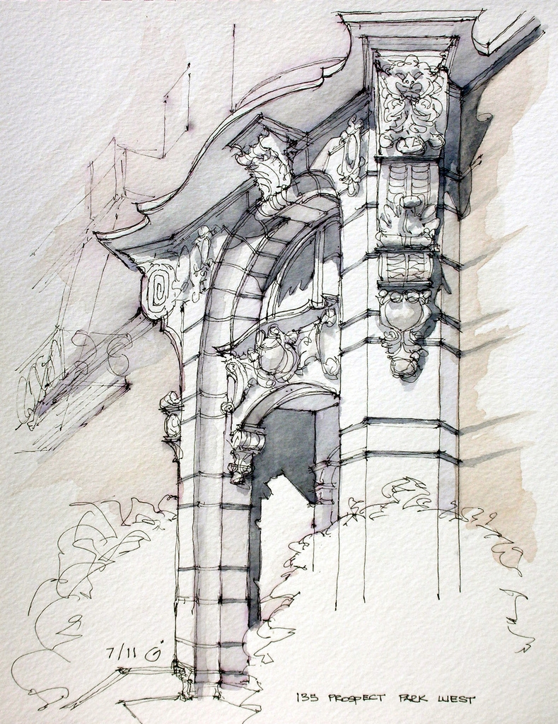 02-135-Prospect-Park-West-James-Anzalone-Freehand-Sketches-of-Park-Slope-Brooklyn-USA-www-designstack-co