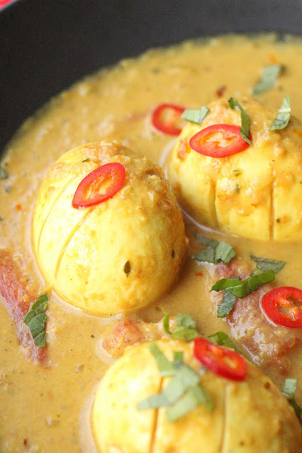 curry oeufs lait de coco