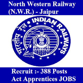 North Western Railway, N.W.R., Rajasthan, RAILWAY, Jaipur Railway, Indian Railways, Act Apprentices, Apprentice, 10th, ITI, freejobalert, Sarkari Naukri, Latest Jobs, Hot Jobs, north western railway logo