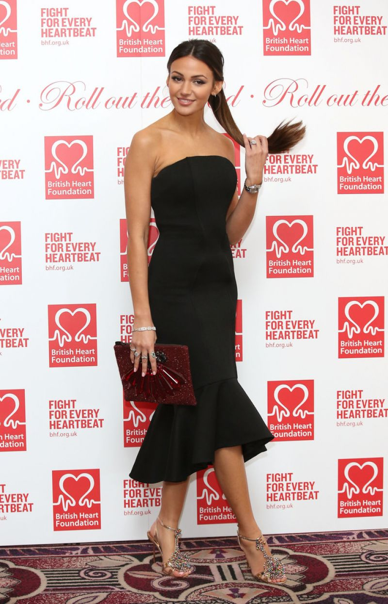 HQ Photos of Michelle Keegan in Black dress At British Heart Foundation's Roll Out The Red Ball In London