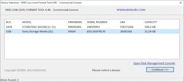 Perbaiki Kapasitas FlashDisk Berkurang, Restore FlashDisk Capacity