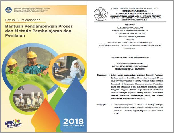 Juklak Bantuan Pendampingan Proses dan Metode Pembelajaran dan Penilaian SMK Tahun 2018