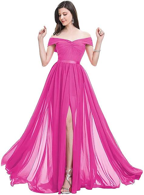 Beautiful Floor Length Chiffon Bridesmaid Dresses