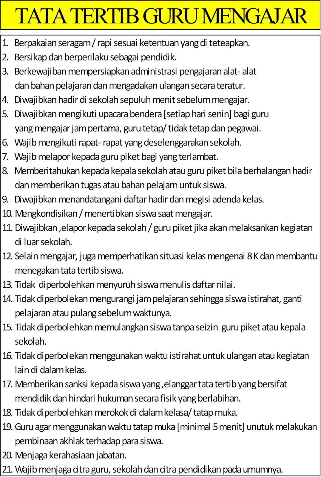 Tata Tertib Guru Indonesia : tertib, indonesia, Ukuran, Banner, Tertib, Soalan