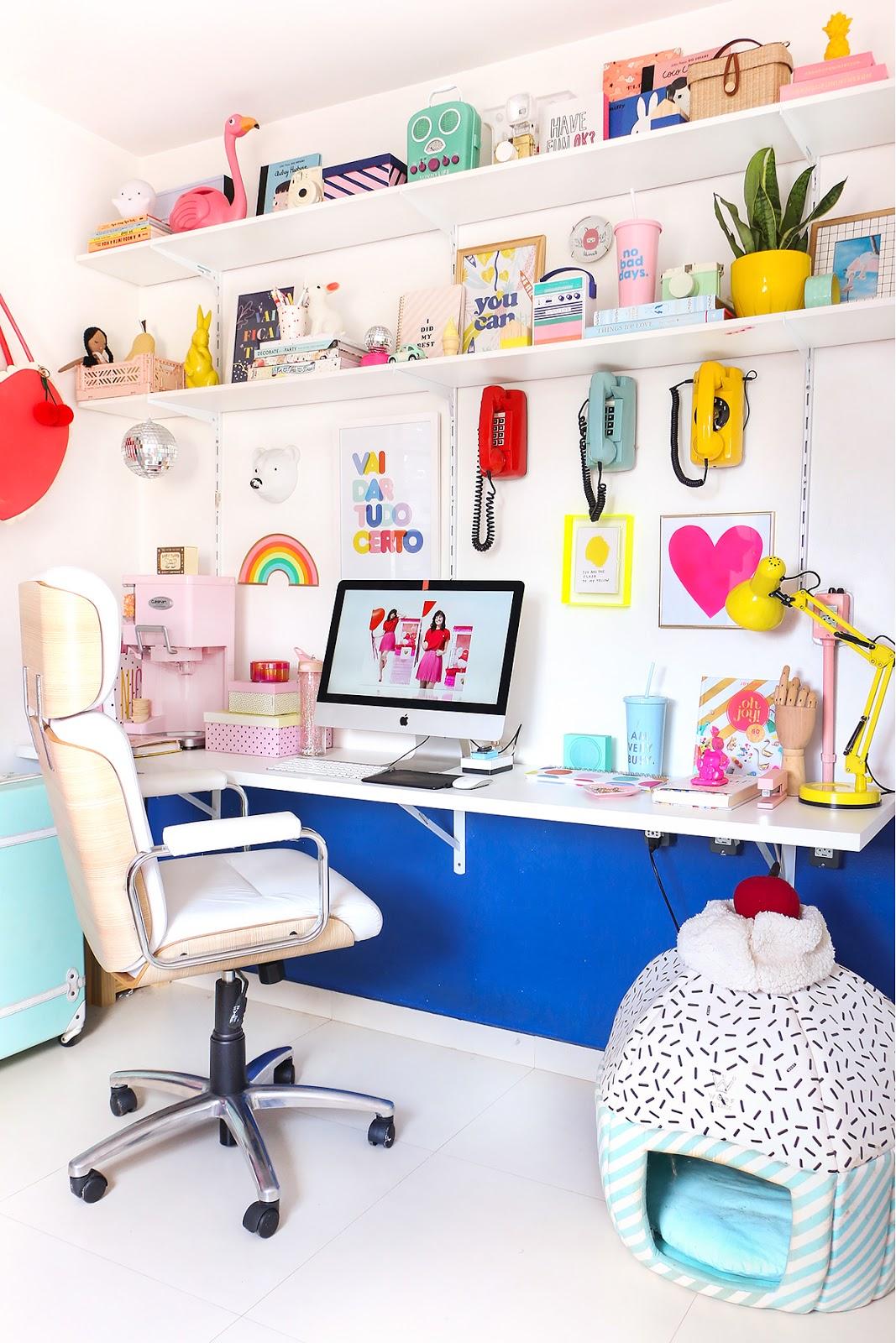 cadeira de escritorio branca confortavel tok stok