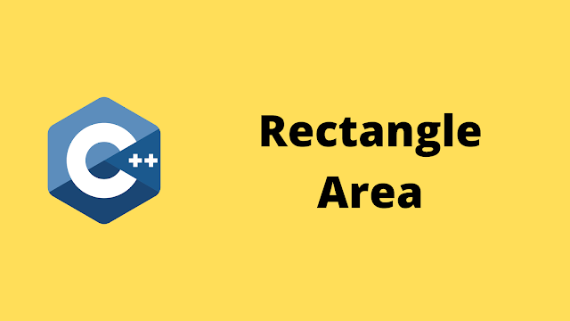 HackerRank Rectangle Area solution in c++ programming