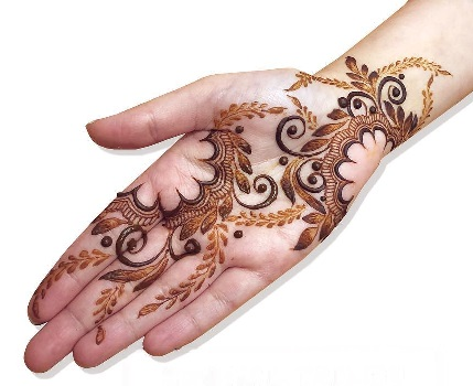 Empty Space Mehndi Design for Front Hand