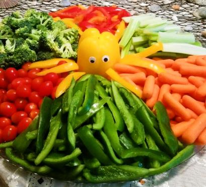 Octopus Pepper Vegetable Platter