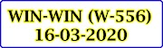 WIN-WIN W-556 Kerala Lottery Result Today 16-03-2020