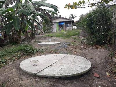 Instalação de fossas sépticas gratuitas beneficia 117 famílias em Pariquera-açu