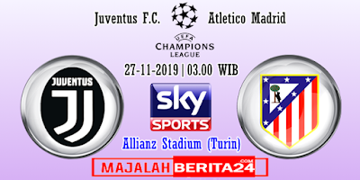 Prediksi Juventus vs Atletico Madrid — 23 November 2019