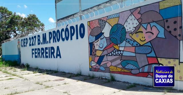 Sábado de atividades diversificadas no CIEP Municipalizado 227 - em Caxias