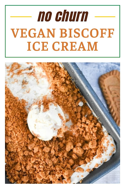 An easy recipe for the most creamy vegan Biscoff ice cream. It's quick and easy to make and it's no-churn, so you don't need an ice cream maker.