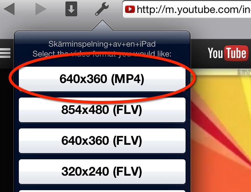 ladda ner klipp från youtube app