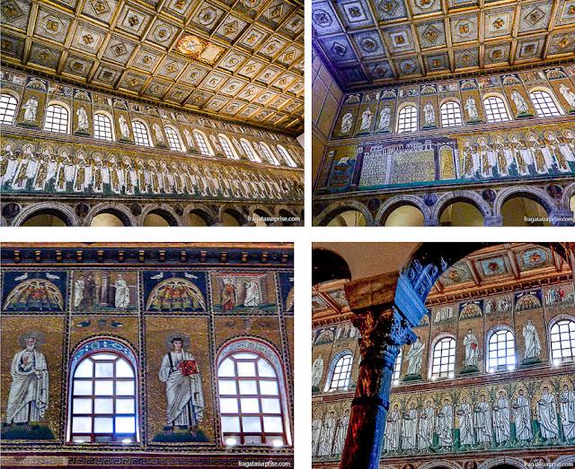 Mosaicos bizantino na Basílica de Sant'Apollinare Nuovo, Ravena, Itália