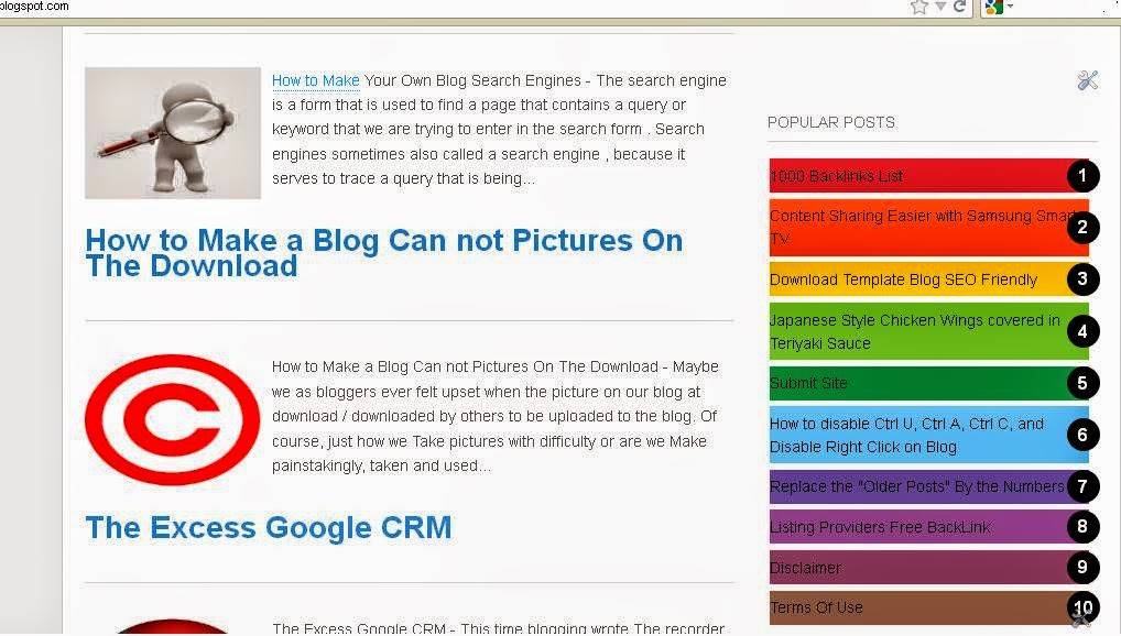 How to Make Colorful Popular Posts In Blogger
