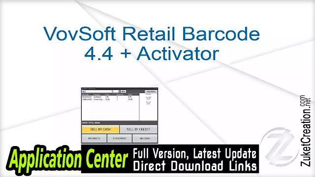 VovSoft Retail Barcode 4.4 + Activator