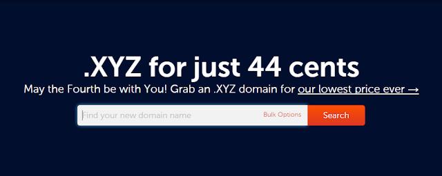 Promo Domain .XYZ Murah Rp 6.000 pertahun dari Namecheap.Inc
