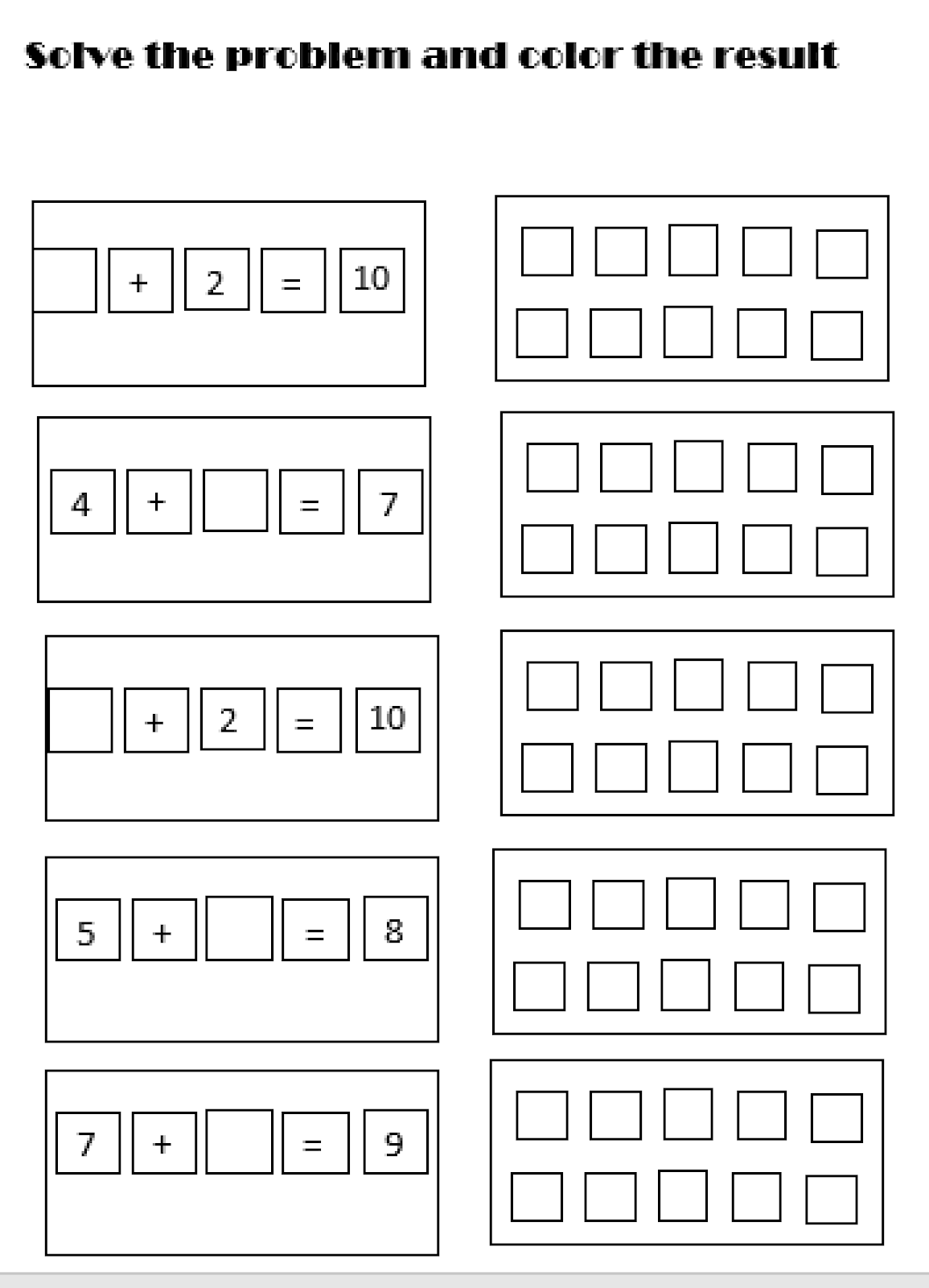 Early Education Simple Addition Worksheet