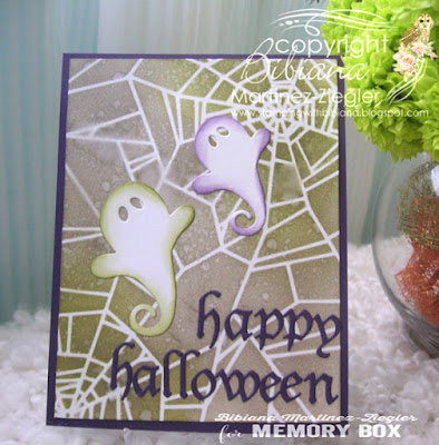 halloween stencil background card last