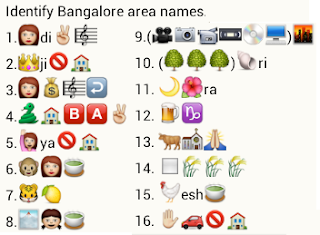 Identify bangalore area names