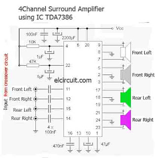Surround Amplifier TDA7386 4 Channel