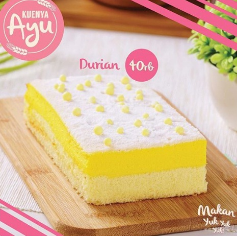 harga dan varian rasa kuenya ayu durian