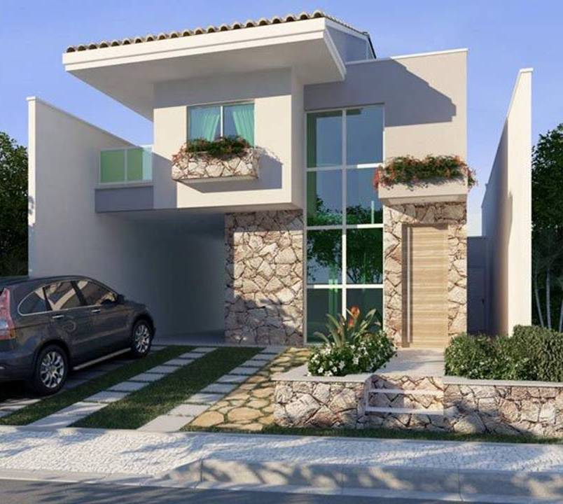 Simple House Exterior Design: 35 Exterior Home Design Simple But Luxury