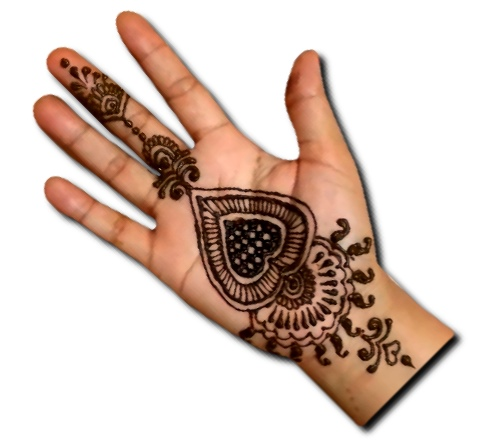 Easy Heart Mehndi Design Front