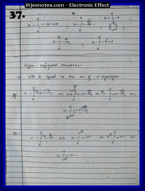 Electronic Effect Notes IITJEE7